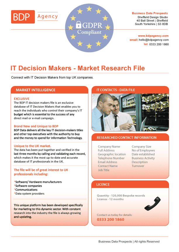 IT Managers & Directors Database