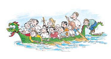 Dragon Boat Race at Rother Valley Park, Sheffield