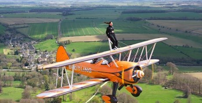 Wing walk for charity